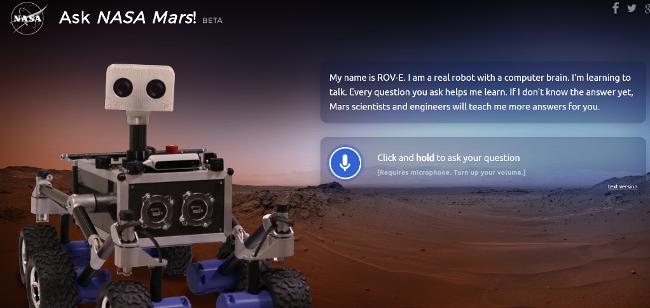 marsk chatbot, nasa bot, mars bot, nasa chatbot