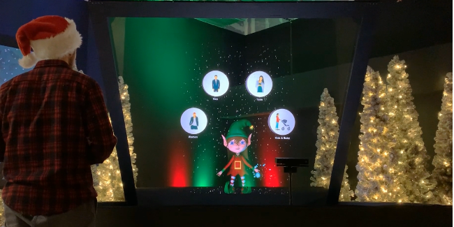 christmas hologram