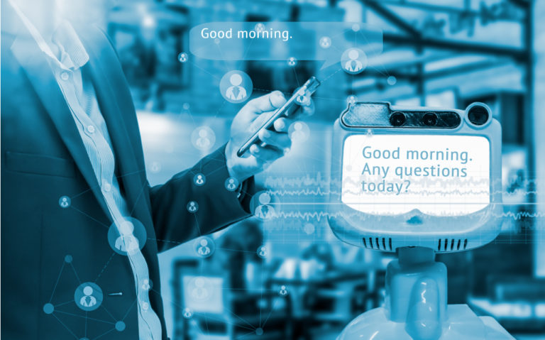 robot, social media, mobile